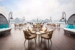 sundecks du thuyền President Hạ Long