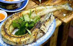 Cá xanh xương nướng