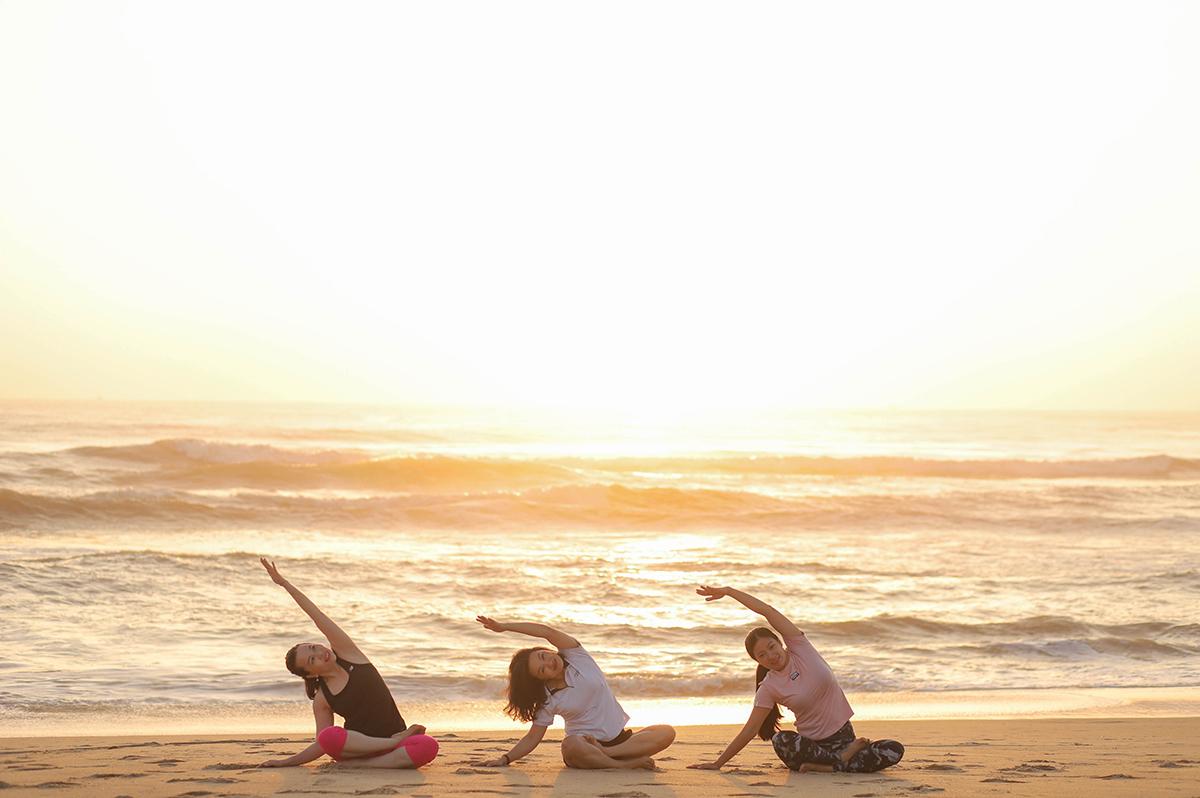 TUI BLUE Nam Hoi An Morning Yoga on the Beach