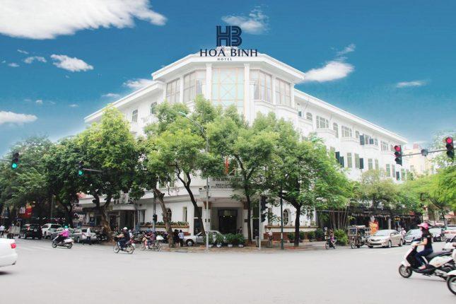 Kết quả hình ảnh cho khách sạn Hòa bình tại hà Noi
