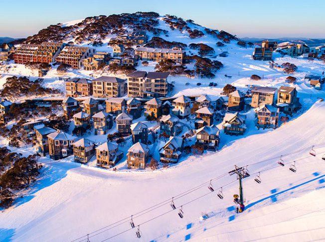 Mt Hotham resort trượt tuyết Australia 2