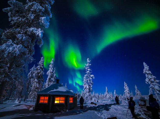 bắc cực quang ở Murmansk Nga